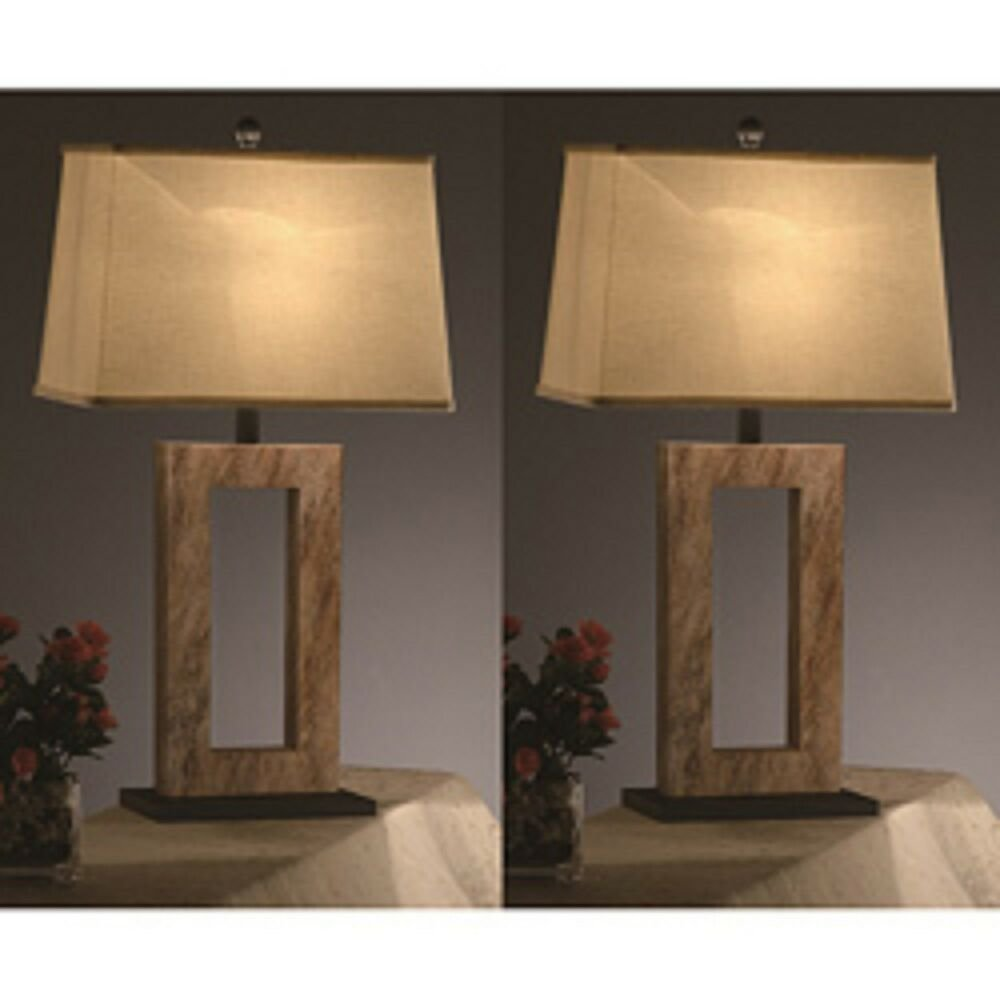 Best Elegant 31Inch Table Lamps Set Of 2 Nightstand Lamps Bedroom Office Brown Gold Ebay With Pictures