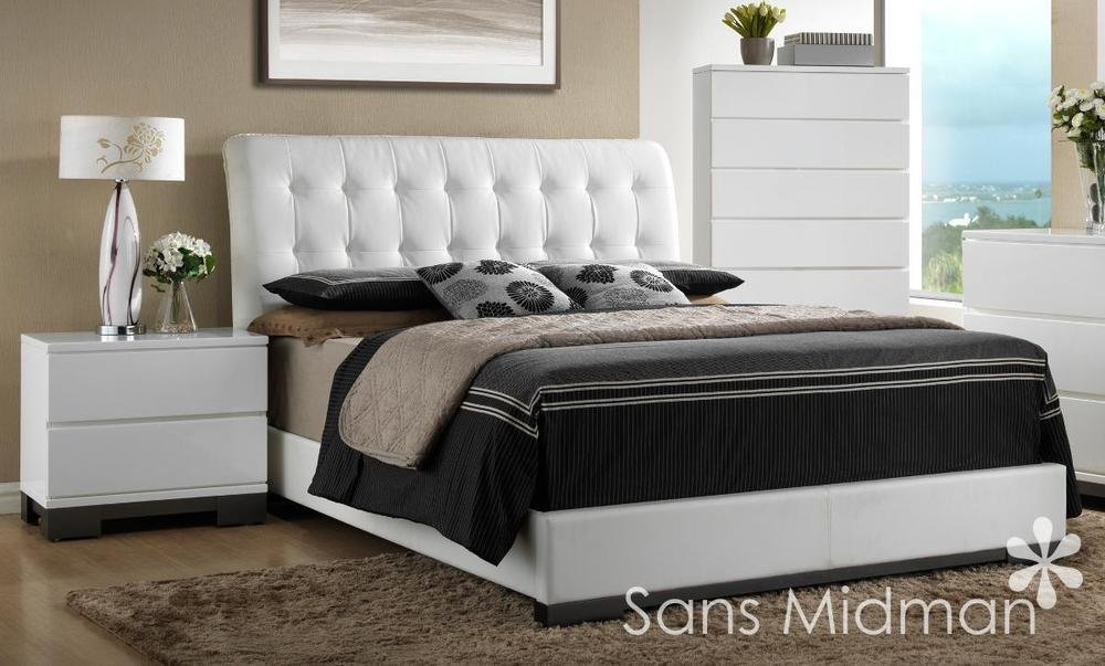 Best New Averi White Modern Bedroom Furniture 3 Piece Queen With Pictures