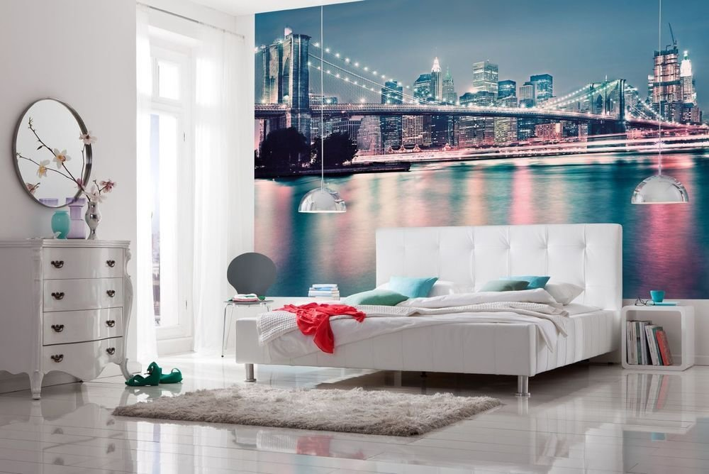Best Wallpaper New York City Skyline Wall Mural 368X254Cm With Pictures