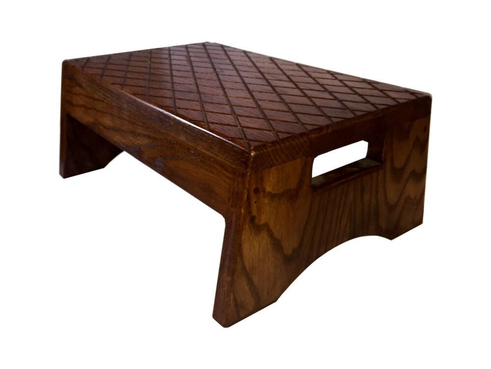 Best Wood Step Stool Solid Bed Bedroom Ebay With Pictures