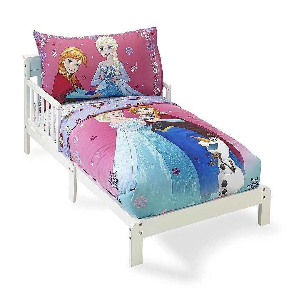 Best Toddler Bedding Set 4 Pc Pink Disney Frozen Girls Bed Sheets Kids Pillow Case Ebay With Pictures