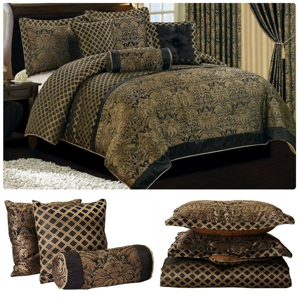 Best Jacquard Comforter Set King Size Bedding Bed In Bag With Pictures