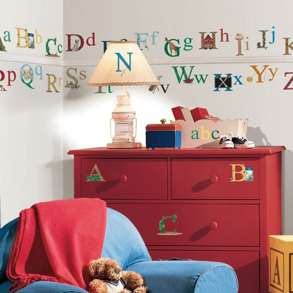 Best Set Of New Alphabet Wall Stickers Kids Bedroom Toy Room Classroom Letters Decals Ebay With Pictures