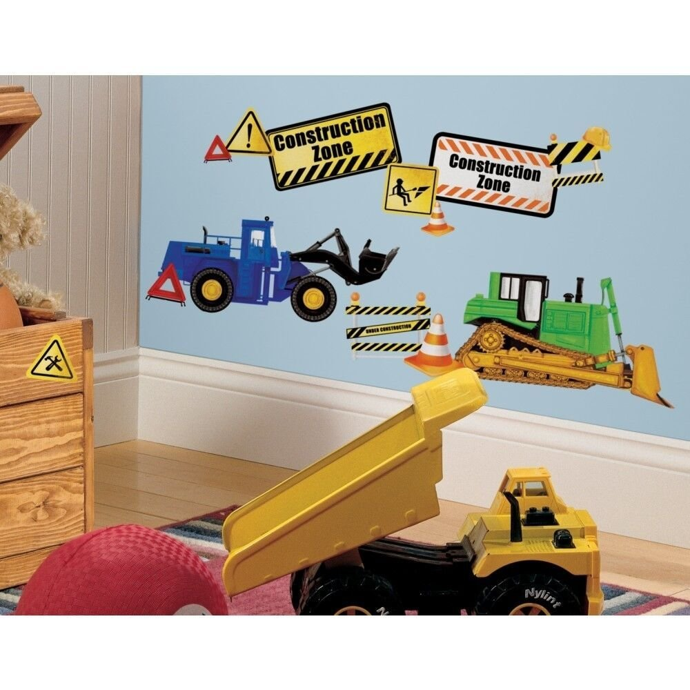 Best Construction Trucks 37 Wall Decals Signs Tractor Dump With Pictures