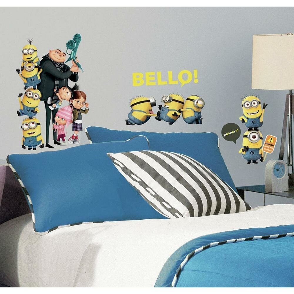 Best 31 New Despicable Me 2 Movie Wall Decals Gru Minions With Pictures