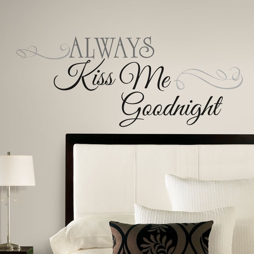 Best New Large Always Kiss Me Goodnight Wall Decals Bedroom With Pictures