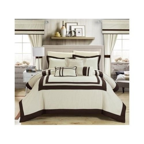 Best Bedroom Comforter Set 20 Piece Bed In A Bag Guest Dorm Room Sheets Curtains Ebay With Pictures