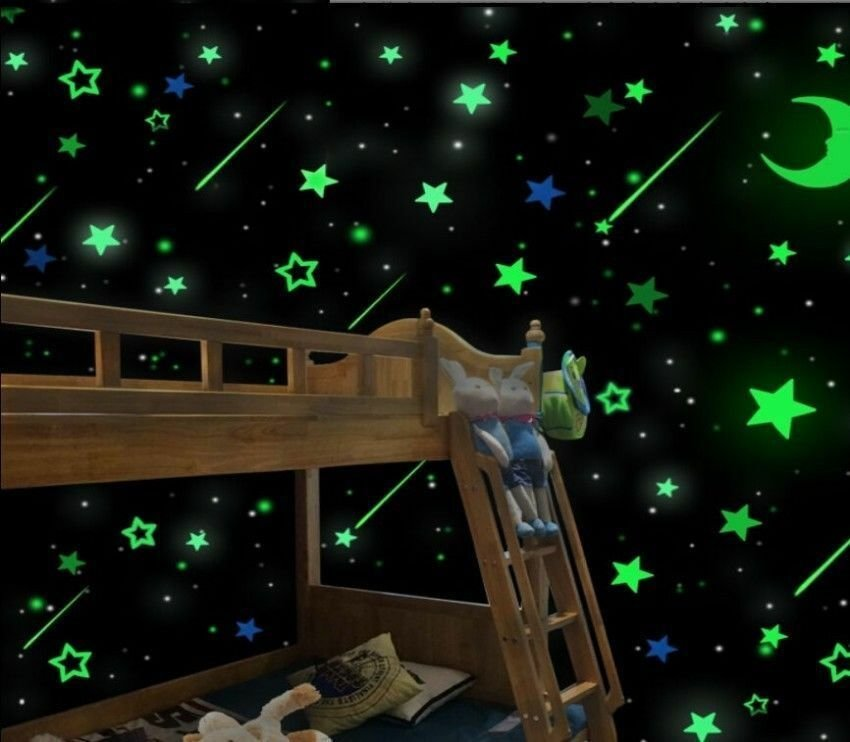Best Luminous Stars Stickers Glue Glow In The Dark Bedroom Home With Pictures