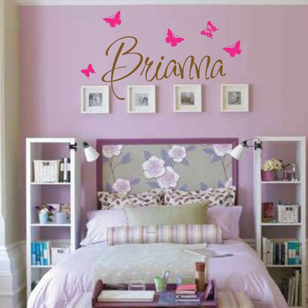 Best Brianna Wall Decal Girls Room Childrens Wall Decal Wall With Pictures