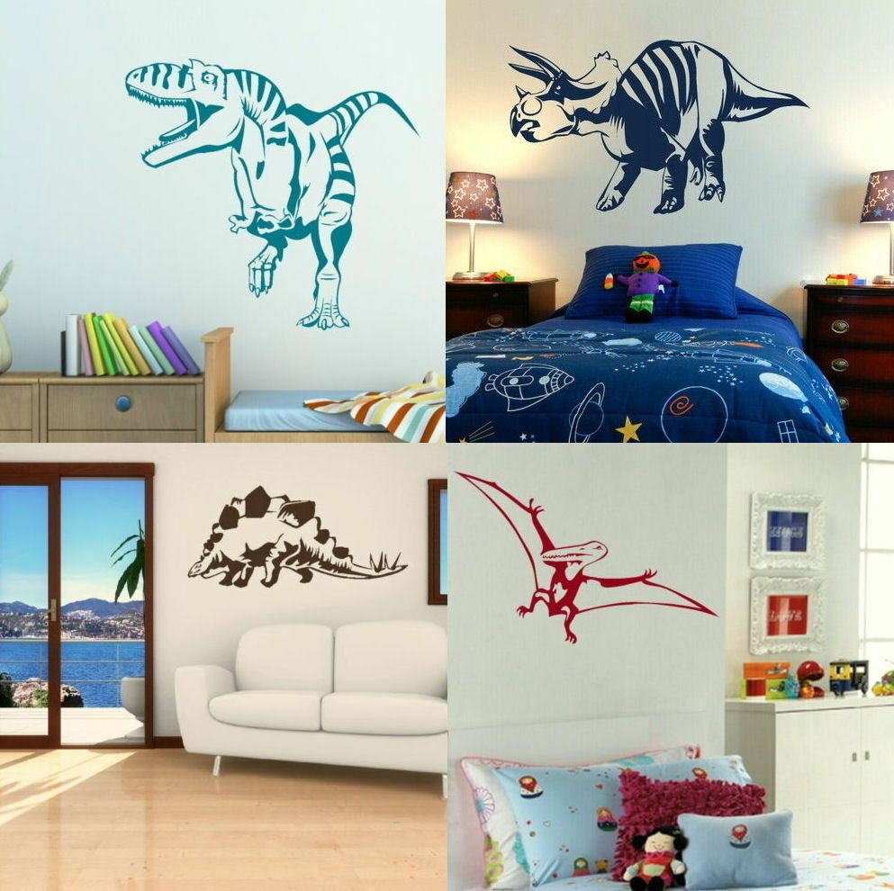 Best Dinosaur Wall Stickers Boys Dino Bedroom Art Lads Room With Pictures