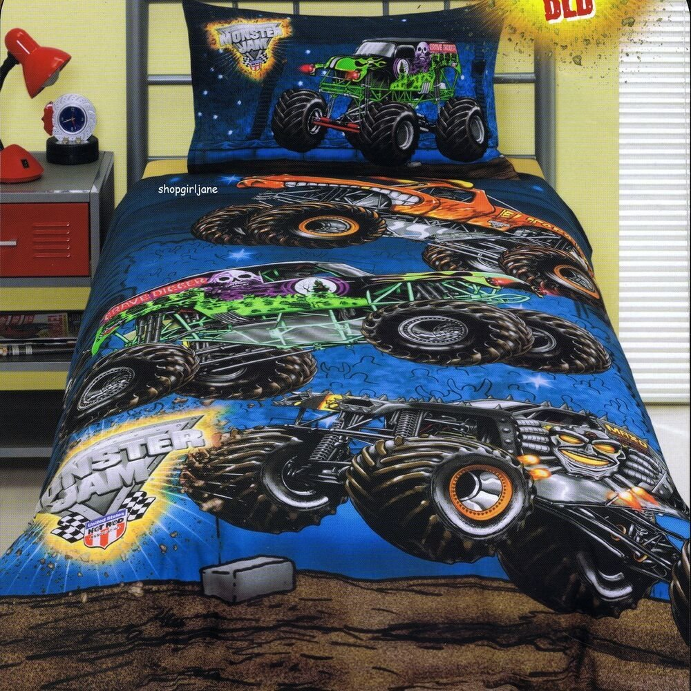Best Monster Jam Grave Digger Double Us Full Bed Quilt With Pictures