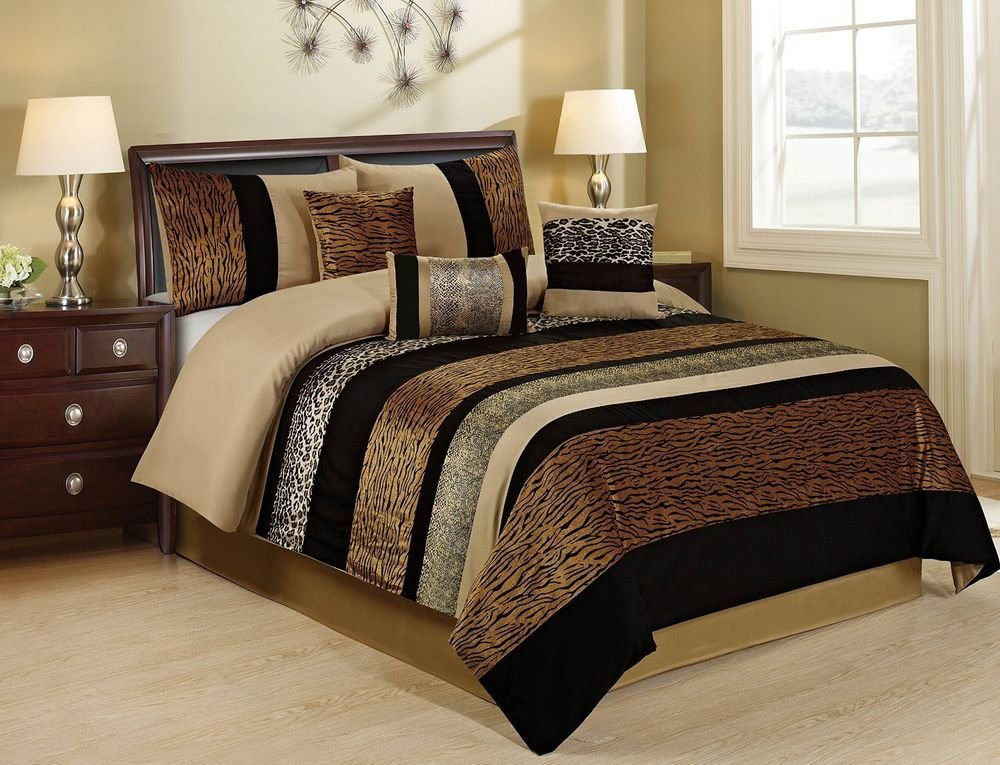 Best 7 Piece Sambar Leopard Cheetah Tiger Prints Patchwork With Pictures