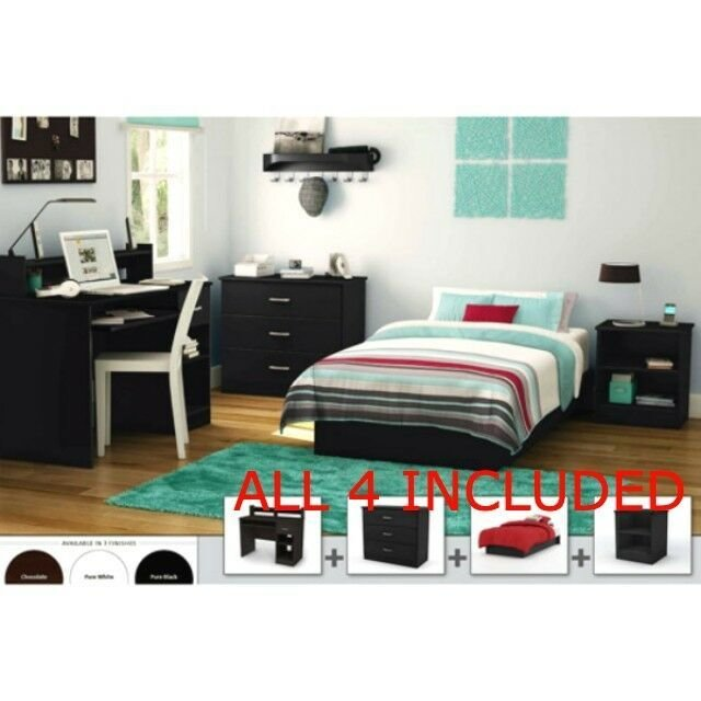 Best Full Bedroom Furniture Set Bed Nightstand Armoire Dresser With Pictures