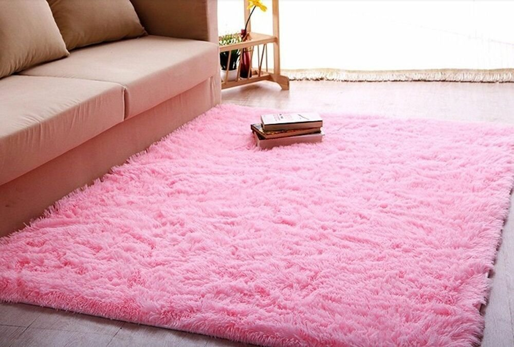 Best Ltra Soft 4 5 Cm Thick Indoor Morden Area Rug Baby Pink With Pictures