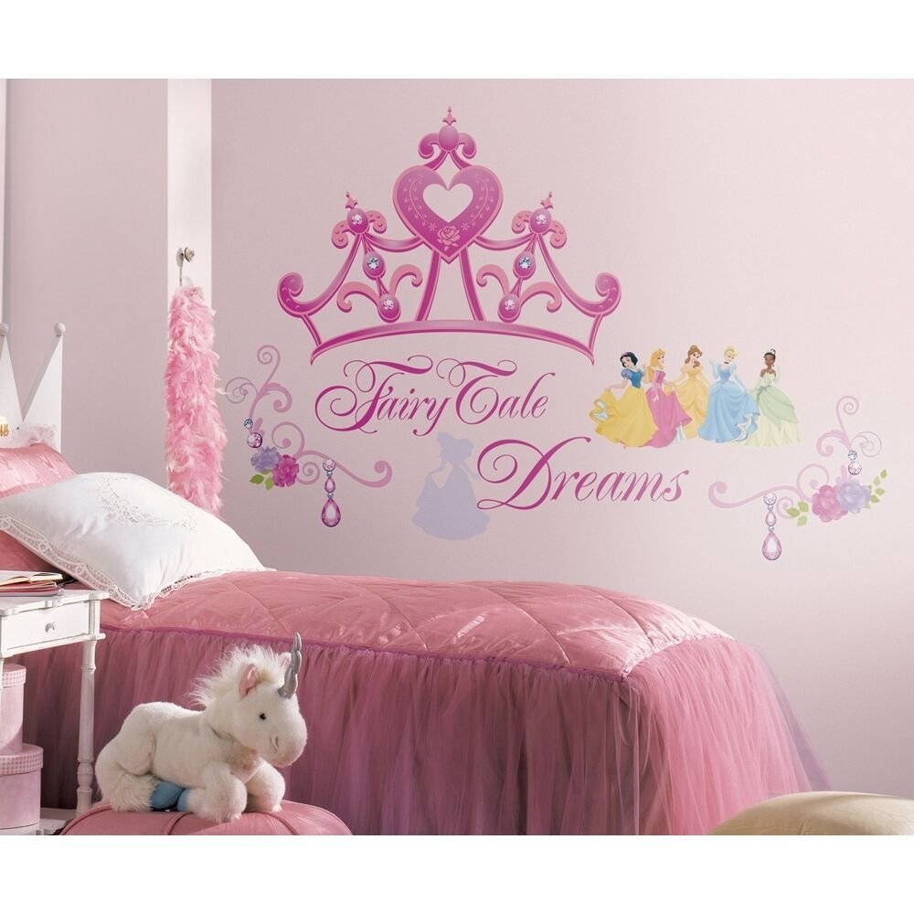 Best New Disney Princess Crown Giant Wall Decals Girls Stickers With Pictures