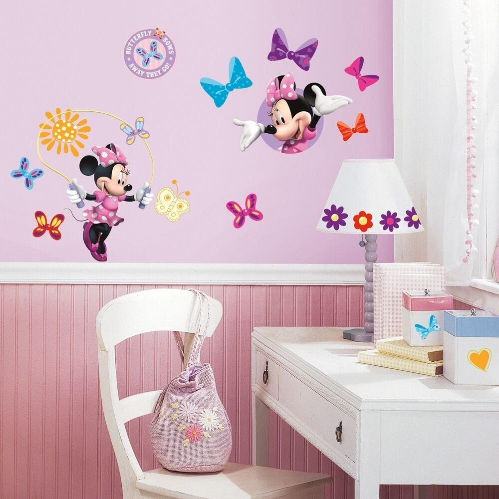 Best 33 New Minnie Mouse Bow Tique Wall Decals Disney Stickers With Pictures