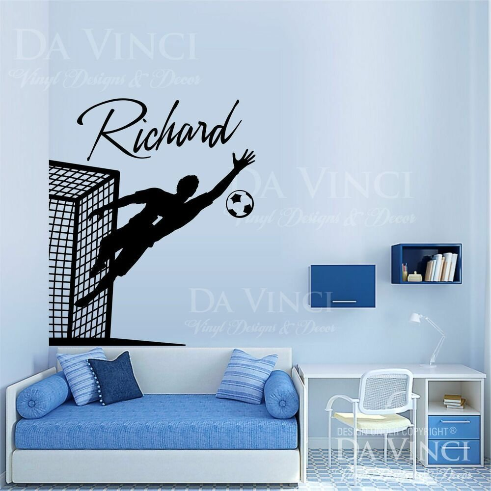 Best Soccer Player Goalkeeper Decal Custom Name Wall With Pictures