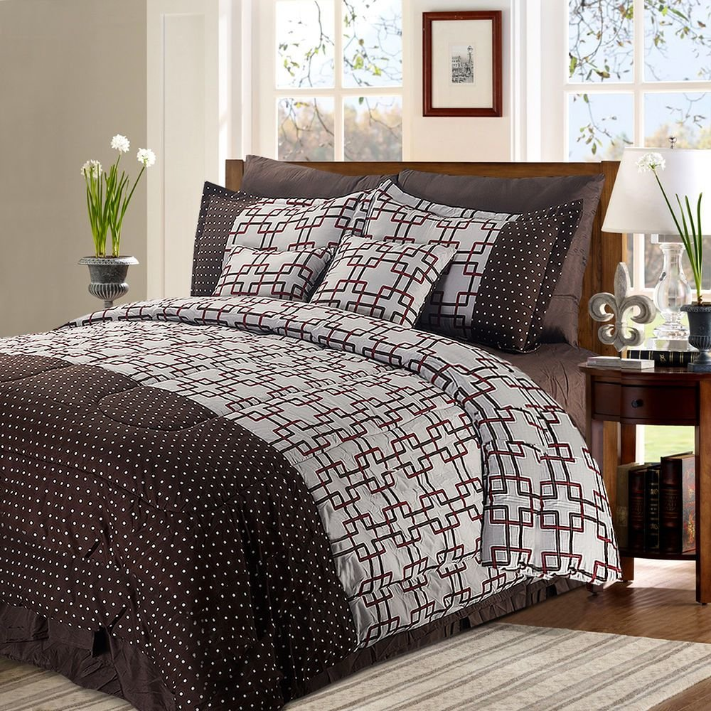 Best 8 2 Piece Luxury Plaid Bedding Comforter Set Plaid Prints With Pictures