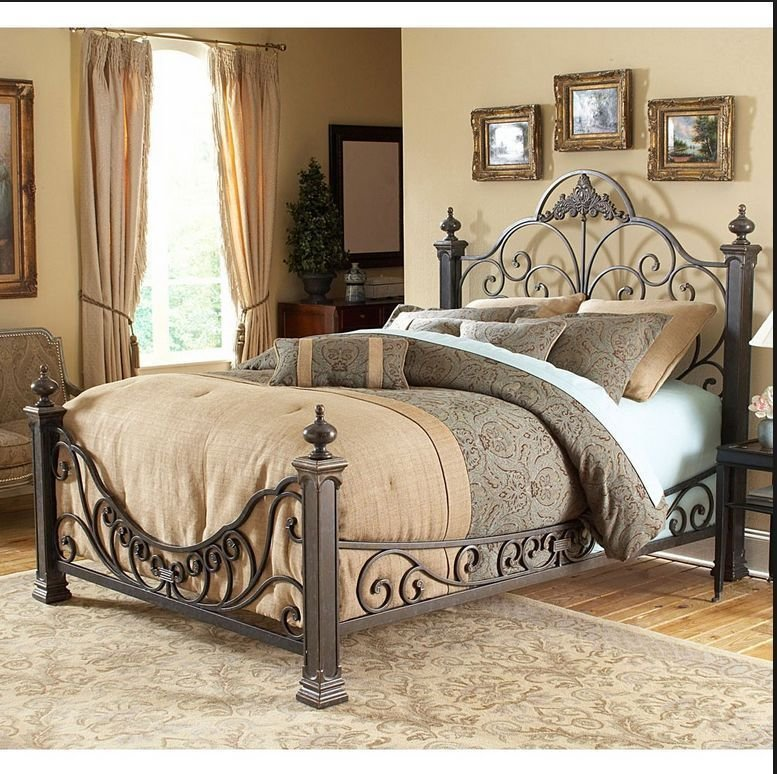 Best Antique Metal King Bed Iron Victorian Poster Bedroom With Pictures