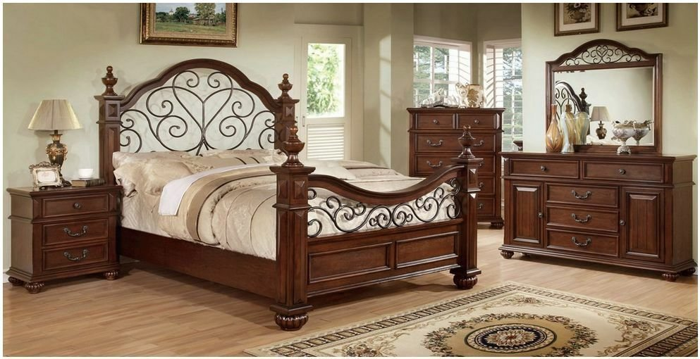 Best Antique Metal King Bed Iron Victorian Poster Bedroom Furniture Headboard Wood Ebay With Pictures