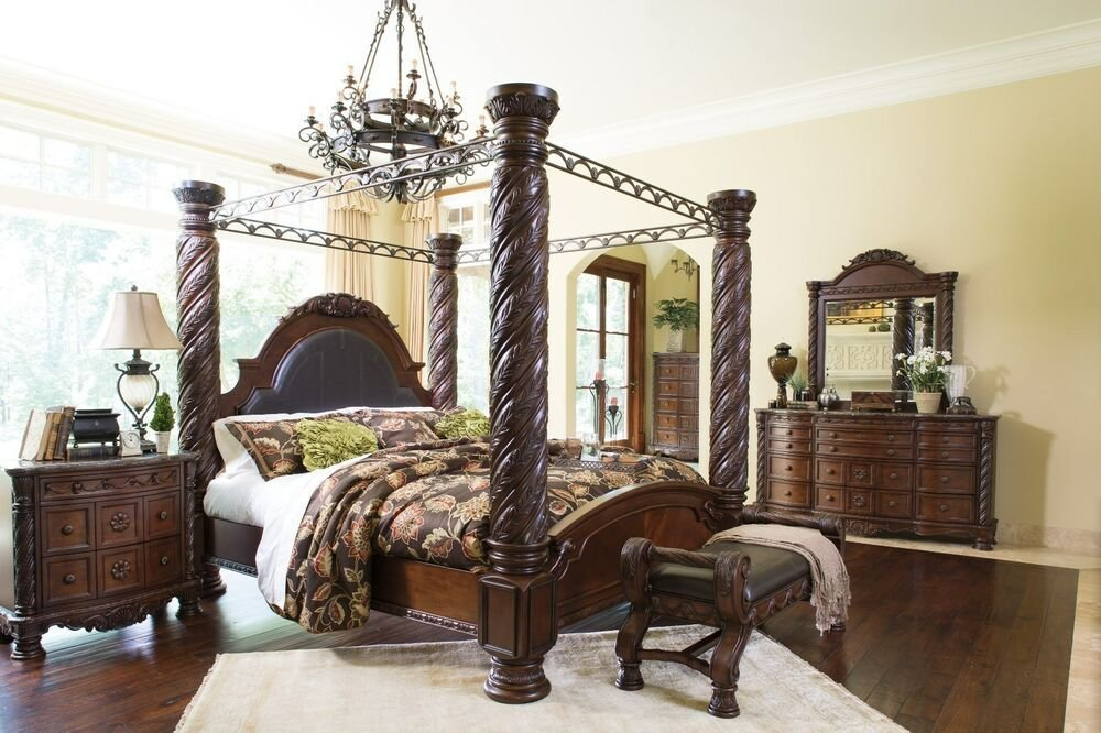 Best New Ashley North Shore Old World C K Or King Bedroom With Pictures