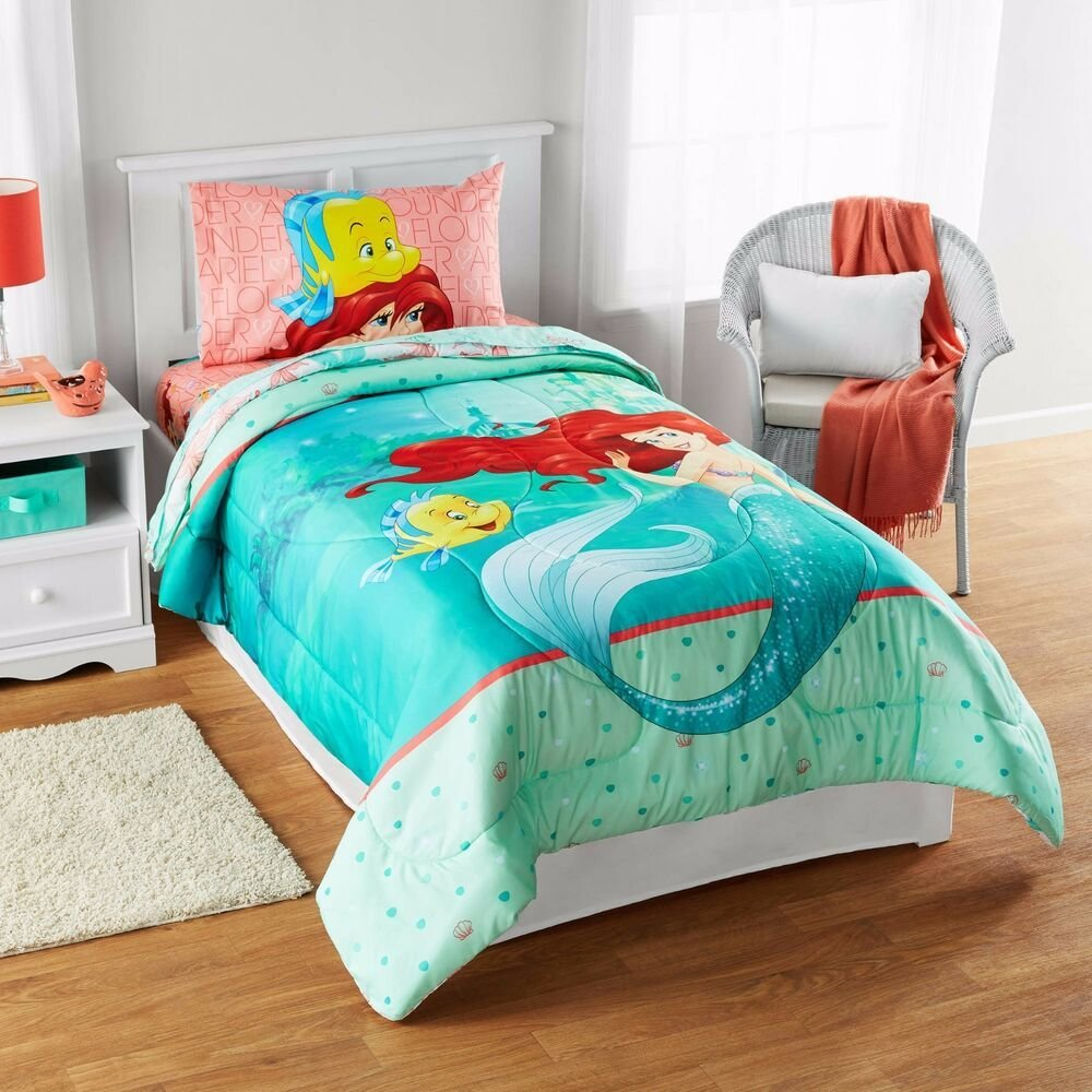 Best Kids Girls Disney Little Mermaid Ariel Bedding Bed In A With Pictures
