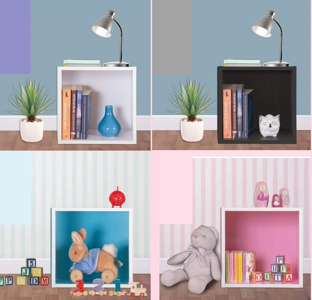Best Wood Wooden Wall Cube Shelf Storage Display Unit Cubes With Pictures