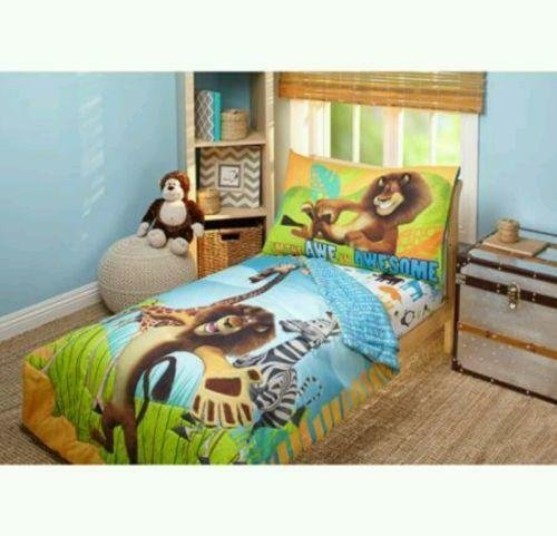 Best Disney Toddler Bedding Set Madagascar 4 Piece Quilt Sheets With Pictures