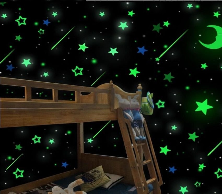 Best Diy Wall Glow In The Dark Stars Stickers Kids Bedroom With Pictures