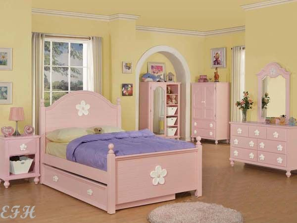 Best New 5Pc Coven Pink Wood Girls Twin Full Bedroom Set Dresser Nightstand Trundle Ebay With Pictures