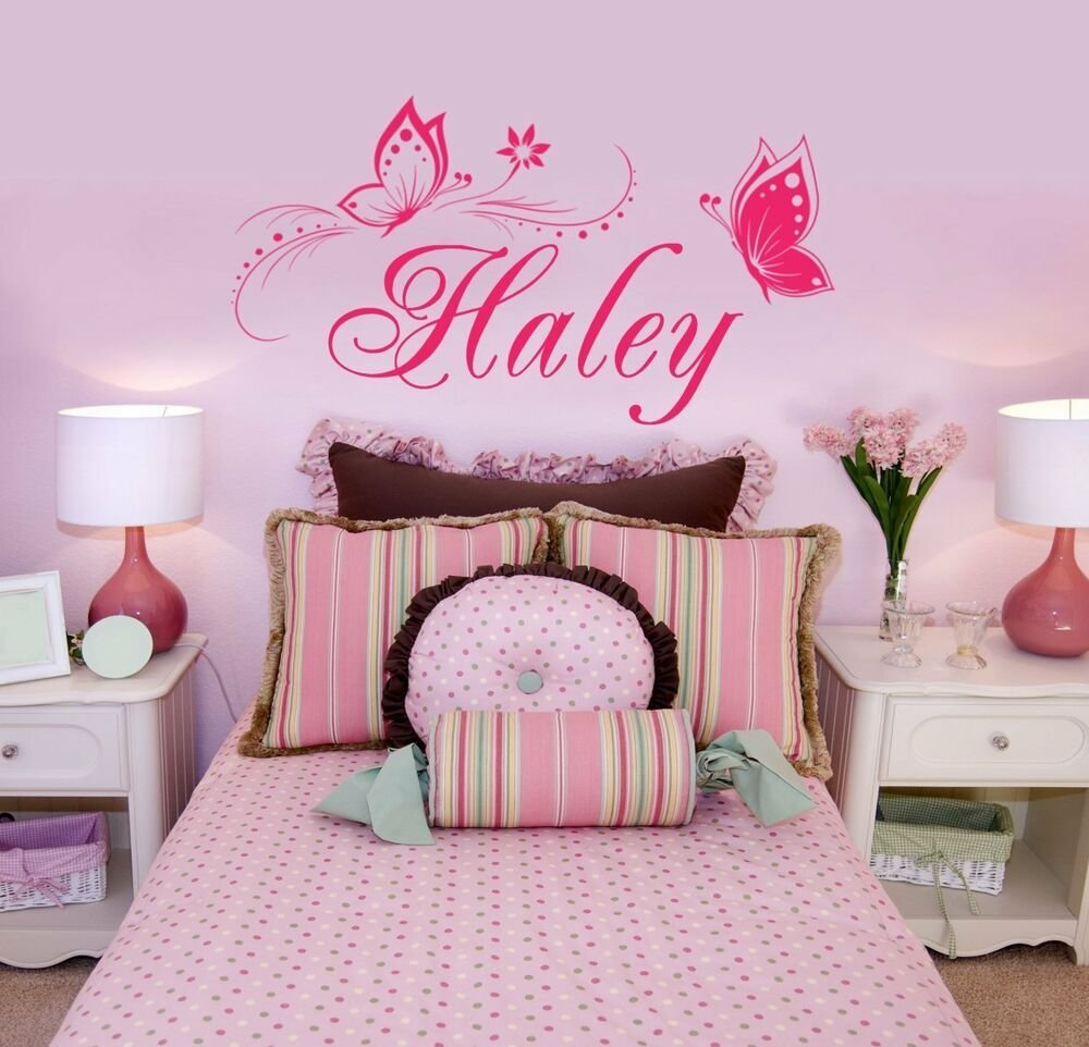Best Personalized Name Butterflies Vinyl Wall Decal Sticker With Pictures
