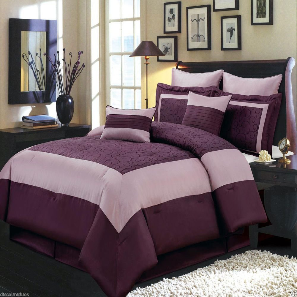 Best 8Pc Luxury Comforter Set Wendy Purple Bedding Set With With Pictures