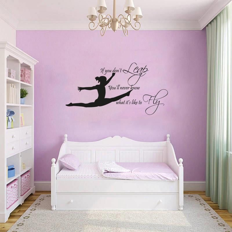 Best Gymnast Gymnastic Girls Bedroom Quote Vinyl Wall Art Sticker Decal Mural Ebay With Pictures