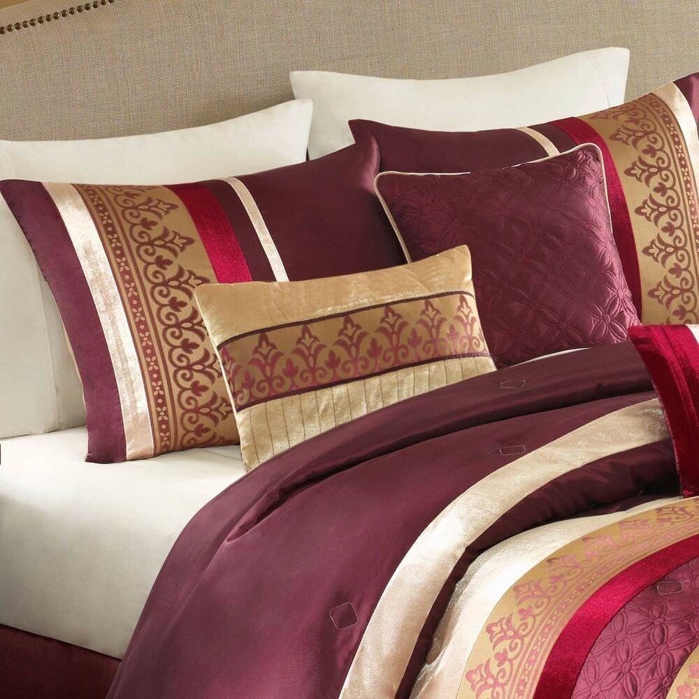 Best Comforter Set King Size Polyester Bedding Sets 7 Piece Bed In A Bag Bedroom New Ebay With Pictures