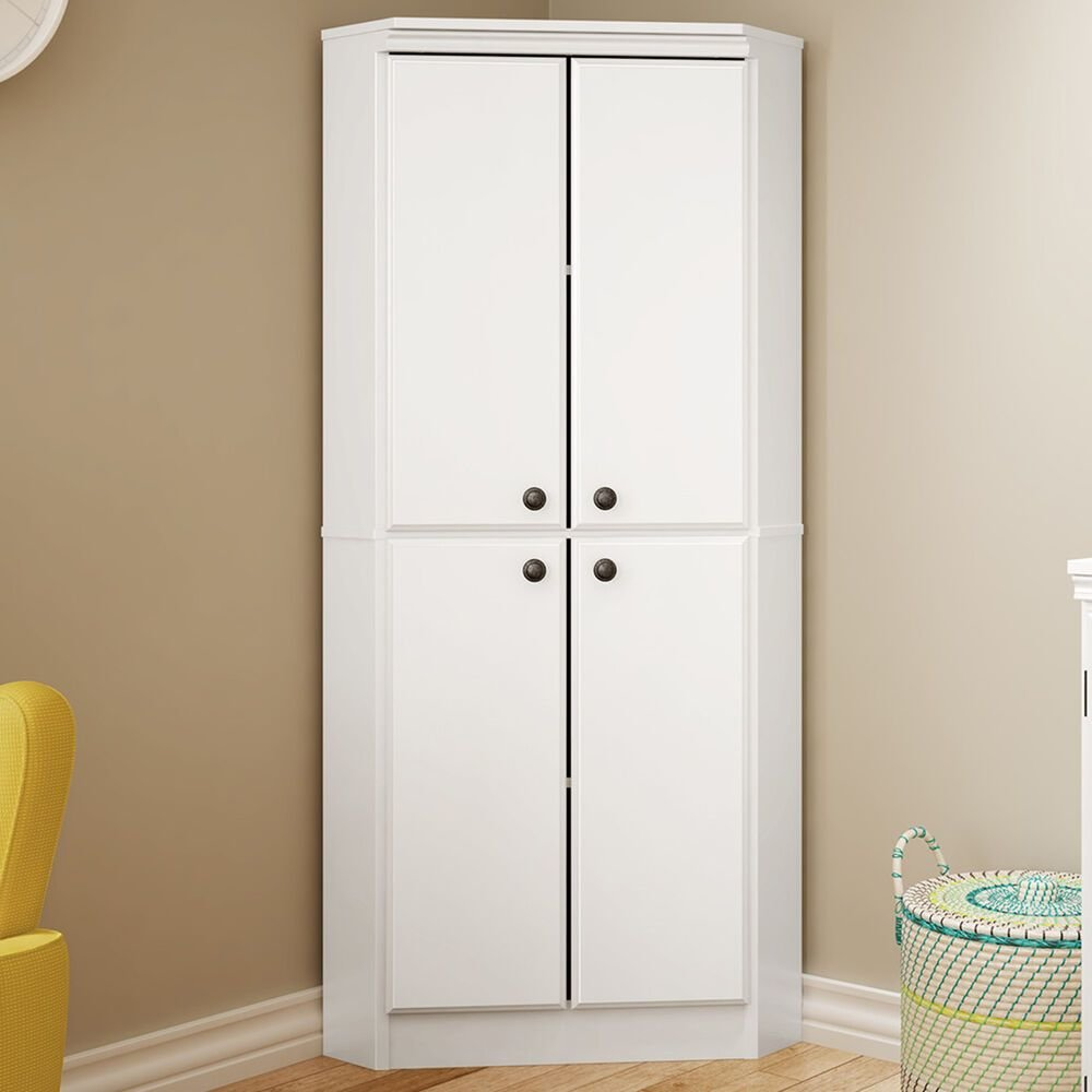 Best White Wardrobe Armoire Storage Closet Wood Clothes Cabinet Bedroom Furniture New Ebay With Pictures