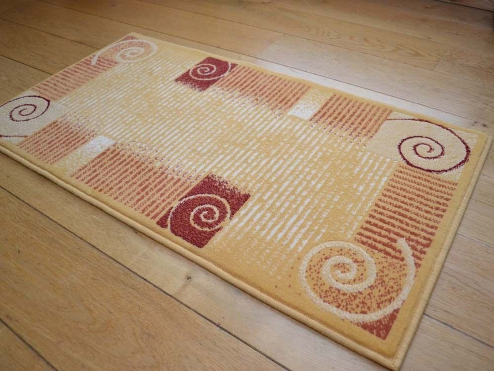Best Small Size Bright Yellow Terracotta Red Floor Carpet Rug With Pictures
