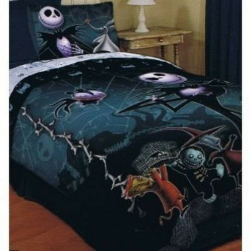 Best Nightmare Before Christmas Comforter Bedding Jack Sally 5 Pcs Set Sheet Pillow Ebay With Pictures