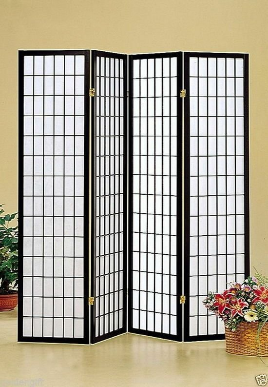 Best Oriental 4 Panel Room Screen Divider Wall Decor Japanese With Pictures