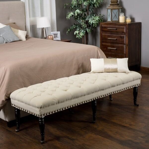 Best Bedroom Bench Tufted Upholstered Ottoman Living Room With Pictures