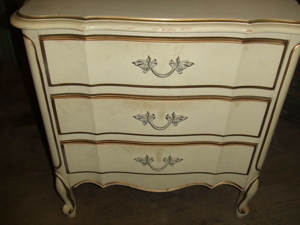 Best Vintage French Provincial Dixie Furniture Night Stand With Pictures