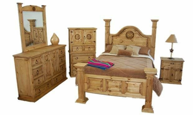 Best Big Sky Bedroom Set Rustic King Queen Western Real Solid With Pictures
