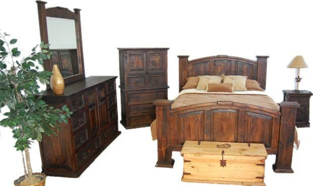 Best Dark Rustic Bedroom Set Western King Queen Free Shipping Ebay With Pictures