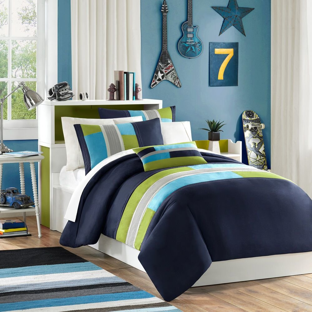 Best Modern Soft Blue Teal Aqua Navy Green Grey Stripe With Pictures