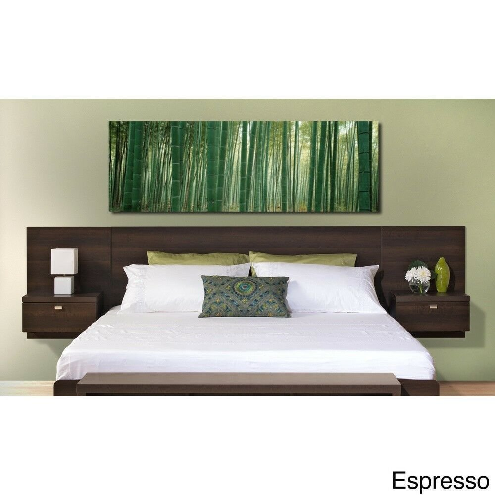 Best Floating Bed Headboard W Nightstands King Size Bedroom With Pictures