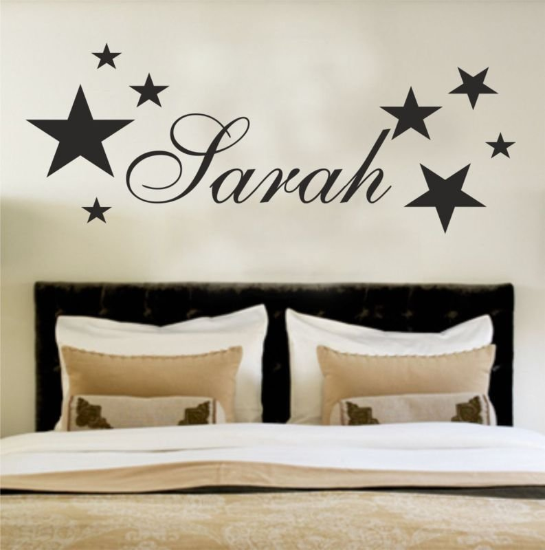 Best Your Name Personalised Wall Art Stickers Kids Stars With Pictures
