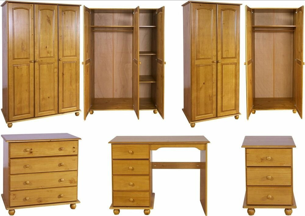 Best Hampshire Solid Antique Pine Bedroom Furniture Wardrobe With Pictures