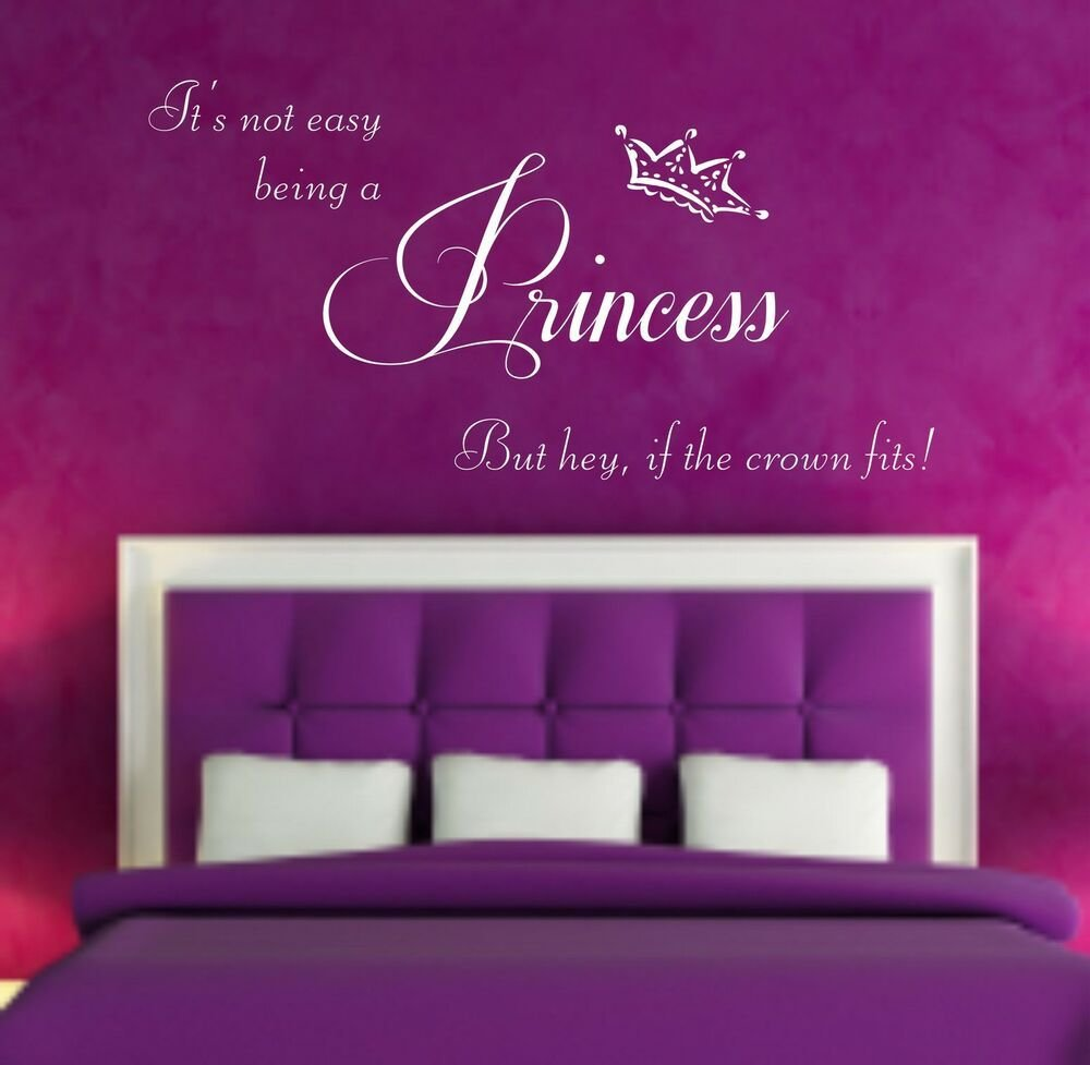 Best Princess Quote Vinyl Wall Art Sticker Decal Bedroom With Pictures