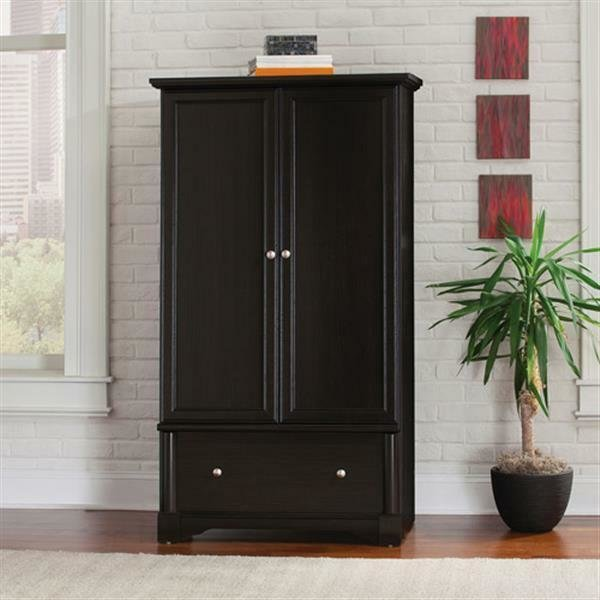 Best Armoire Cherry Wardrobe Storage Cabinet Furniture Bedroom With Pictures