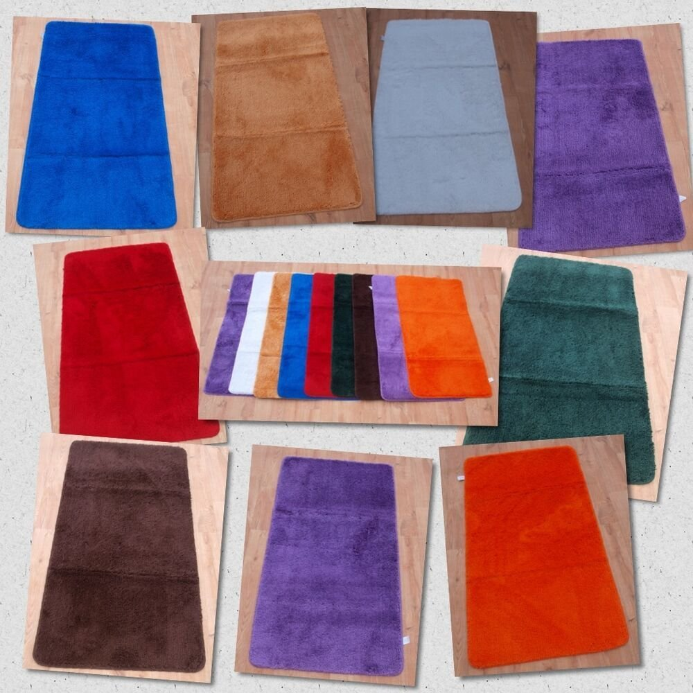 Best Small Non Slip Machine Washable Mats Soft Plain Shaggy With Pictures