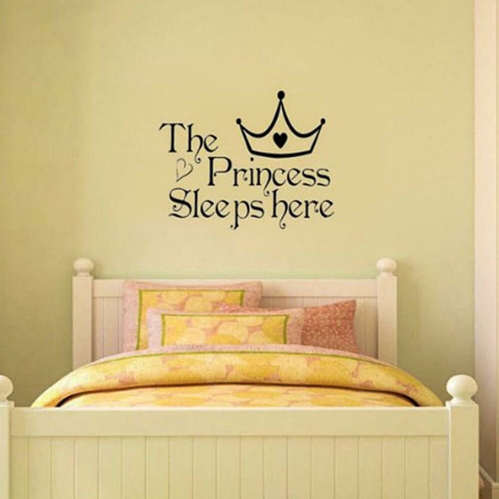 Best Great Princess Removable Wall Sticker Girls Bedroom Decor With Pictures